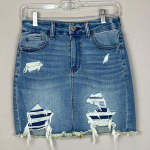Never wornAmerican Eagle Curvy Hi-rise jean skirt